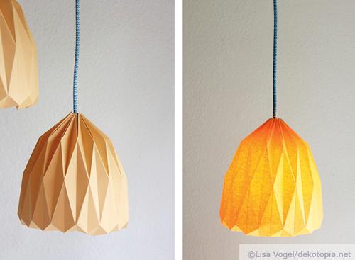 Trendige Origami Lampe Zum Selber Machen Dekotopia