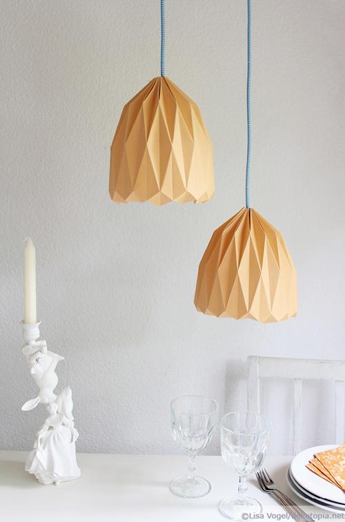 Beliebt Trendige Origami-Lampe zum selber machen / dekotopia JX38