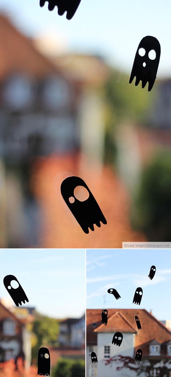 Geisteraud Klebefolie als Fensterdeko zu Halloween