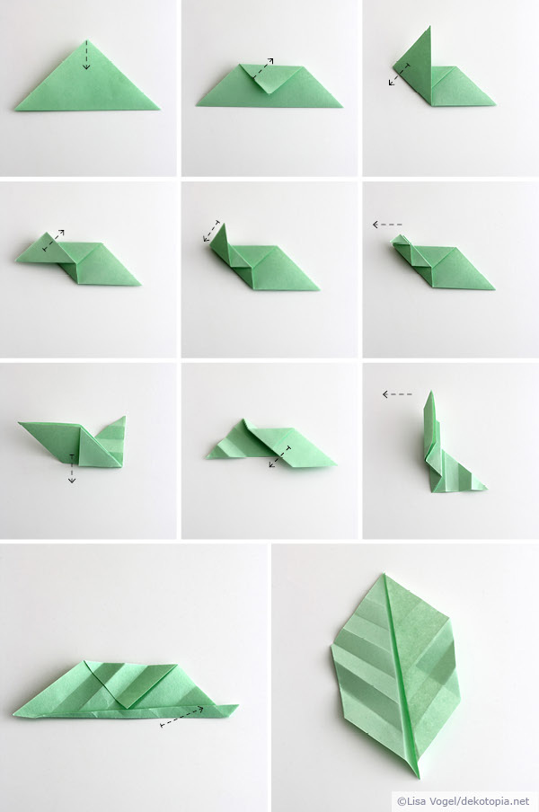 Origami Blätter Dekotopia