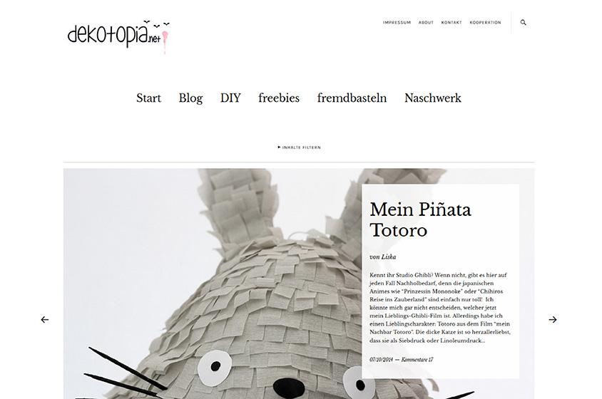 Screenshot neuer blog