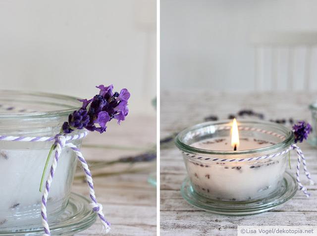 DIY Anleitung: Duftkerzen mit Lavendel gießen