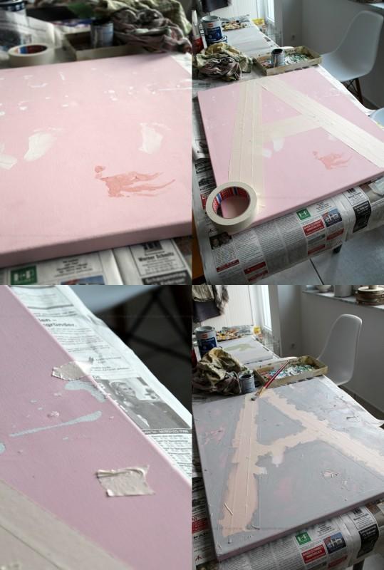 DIY Typografie Leinwandbild Acryl Dekotopia-Collage 1