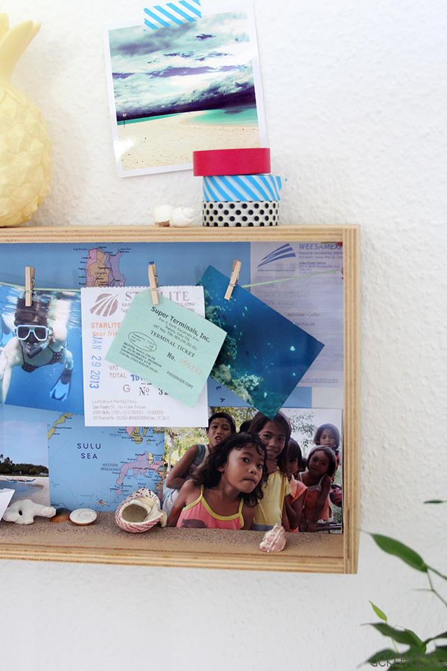 Box für Urlaubserinnerungen