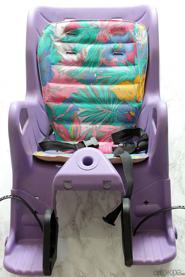 diy anleitung makeover f r kinder fahrradsitz vorher. Black Bedroom Furniture Sets. Home Design Ideas