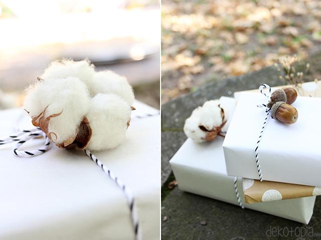 Geschenkverpackung mit Naturmaterial