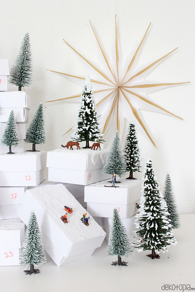 adventskalender mit modellfiguren diy anleitung. Black Bedroom Furniture Sets. Home Design Ideas