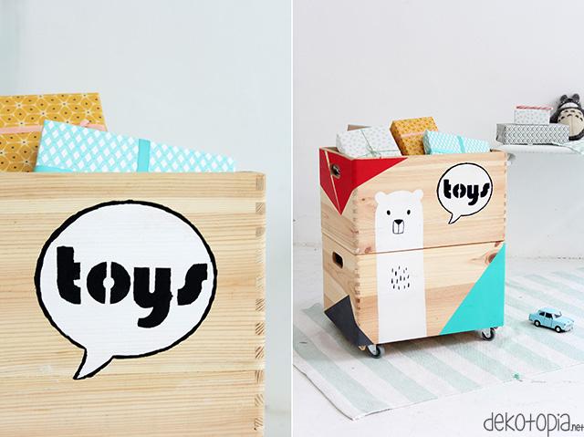 DIYnachten: Spielzeugkisten bemalen