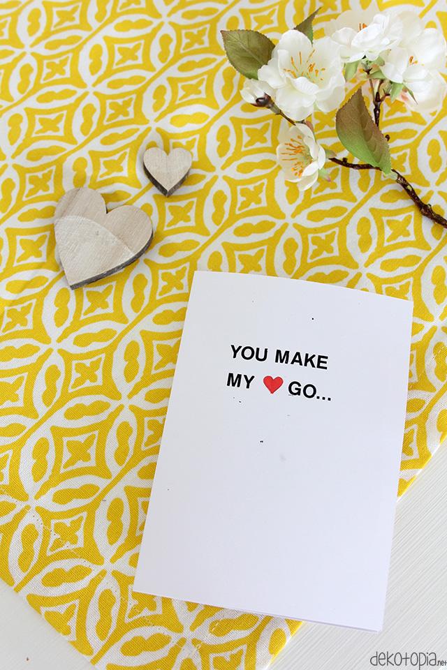 DIY Anleitung: 3D Pop-Up Karte aus Papier als Geschenk zum Valentinstag