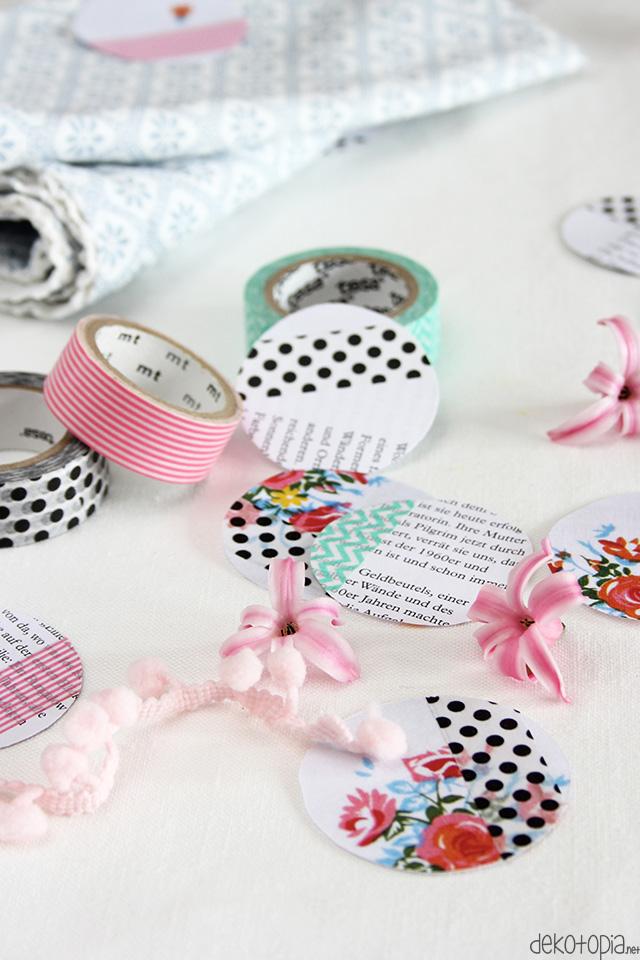 Riesenkonfetti aus alten Zeitschriften und Washi Tape. DIY Challenge - Upcycling mit Washi Tape