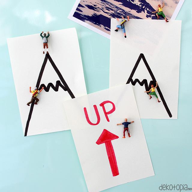 Kühlschrankmagnete mit miniatur Bergsteigern