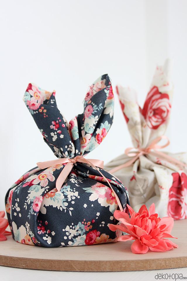 Furoshiki inspierierte Geschenkverpackung