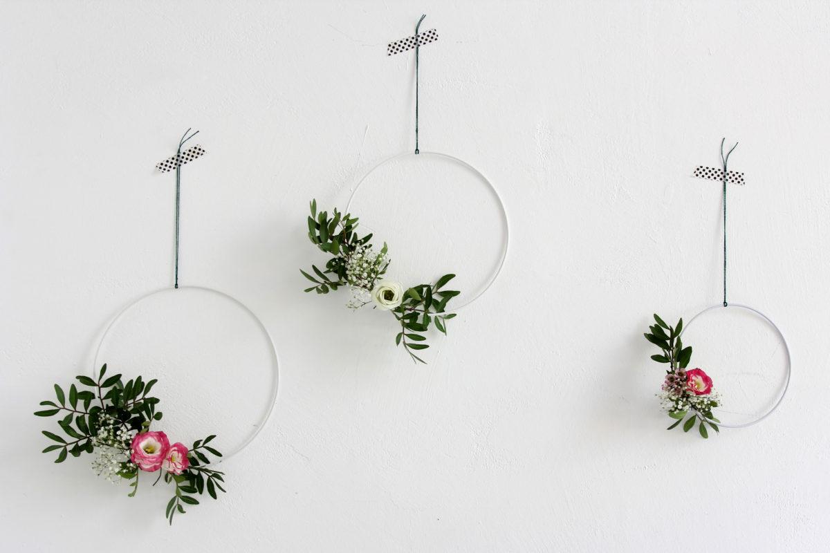 Einfache Blumenkränze Im Skandinavischen Stil