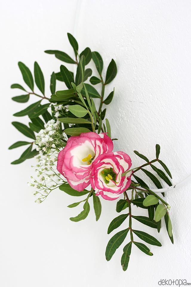 DIY Anleitung: Einfache Blumenkränze im skandinavischen Stil