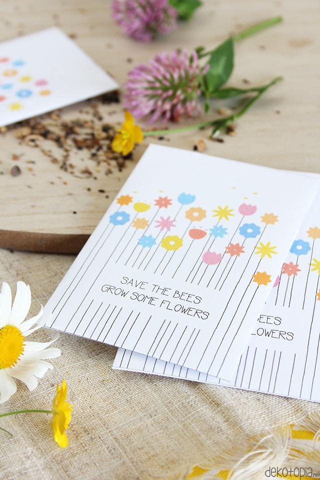 Free Printable: Samentüten für Bienenwiese
