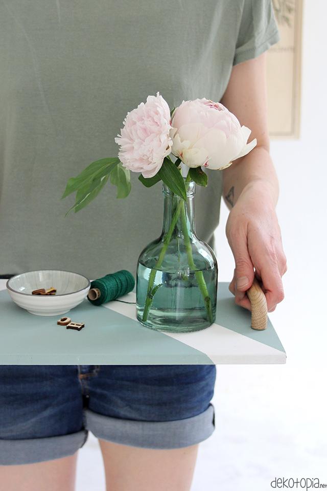 DIY Anleitung: Tablett mit Tragegriffen selber machen