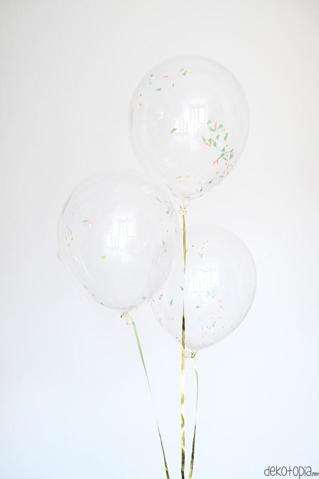 Konfetti-Luftballons ganz einfach selber machen
