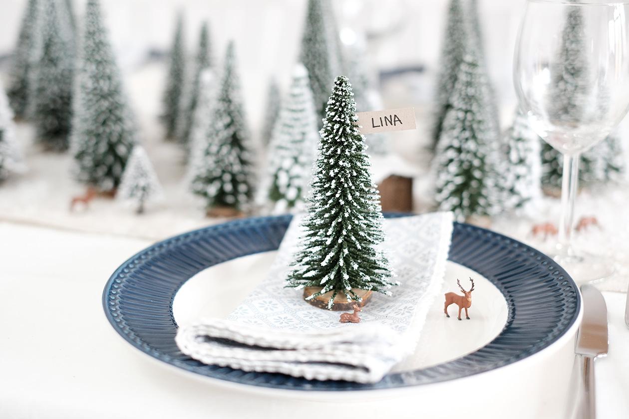 Diynachten Winterwald Tischdeko Mit Noch Kreativ Dekotopia